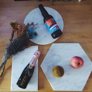 BN Minimalist marble boards (circle, rectangular and hexagonal) / Cheese serving board