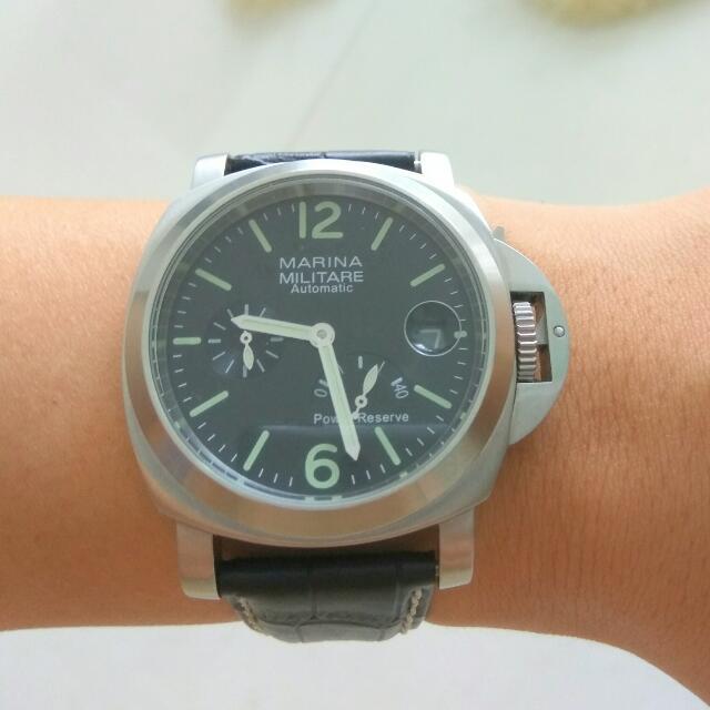 44mm Marina militara power reserse automatic wristwatch