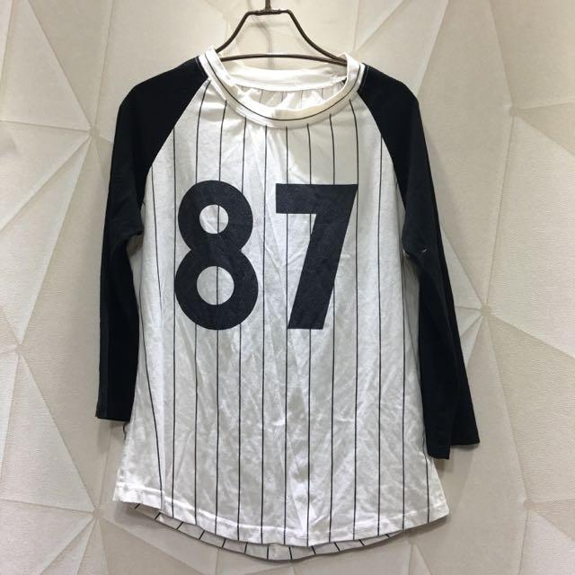 87七分袖棒球上衣
