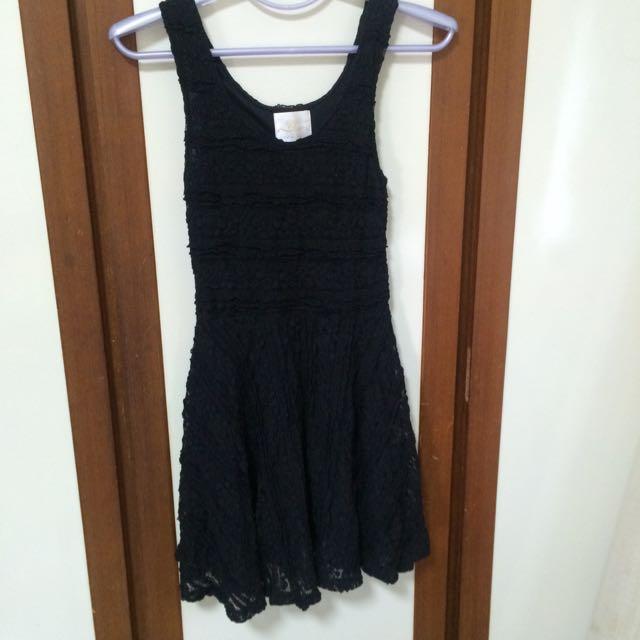 黑色小花背心裙