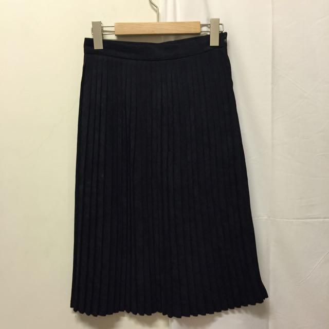 麡皮百折長裙