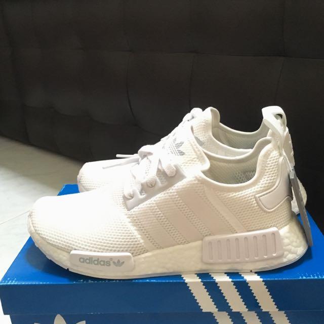 47ef0ca46 Adidas NMD R1 Triple White US9.5 BNIB