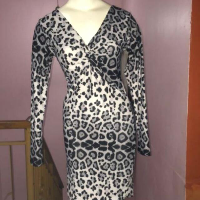 Animal Leopard Bodycon Dress