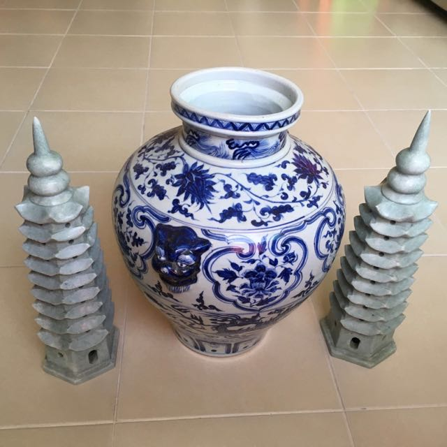 Antique Vase Ceramic Feng Shui Pyramid Fengshui Furniture On Carousell