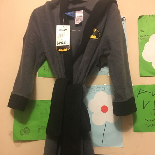 Batman Dressing Gown, Babies & Kids on Carousell