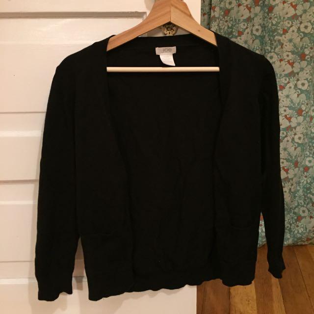 Black 3/4 Length Cardigan