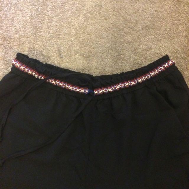 Black Divided Casual Dress Pants
