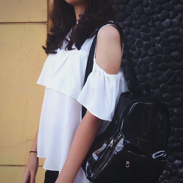 Black Faux Leather Bag Mini