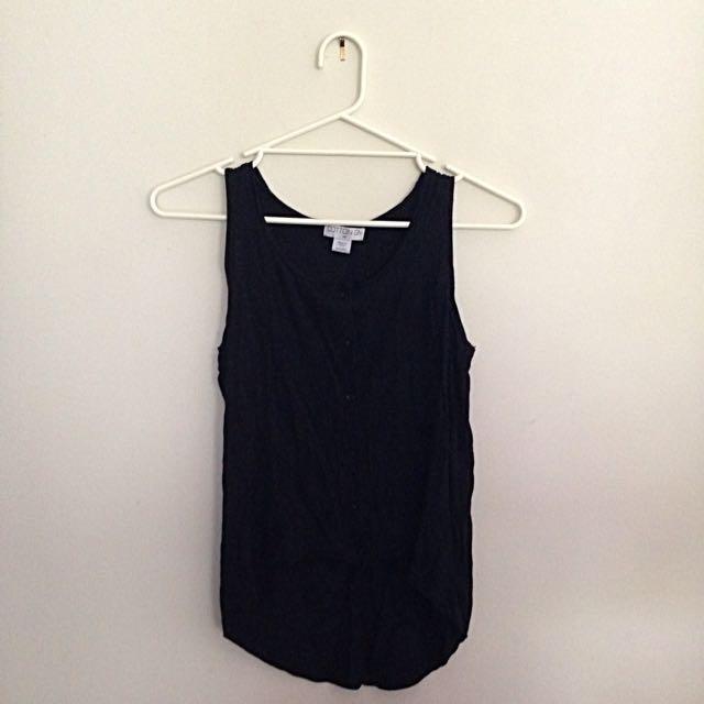 Black Sleeveless Cotton On Top Size XS