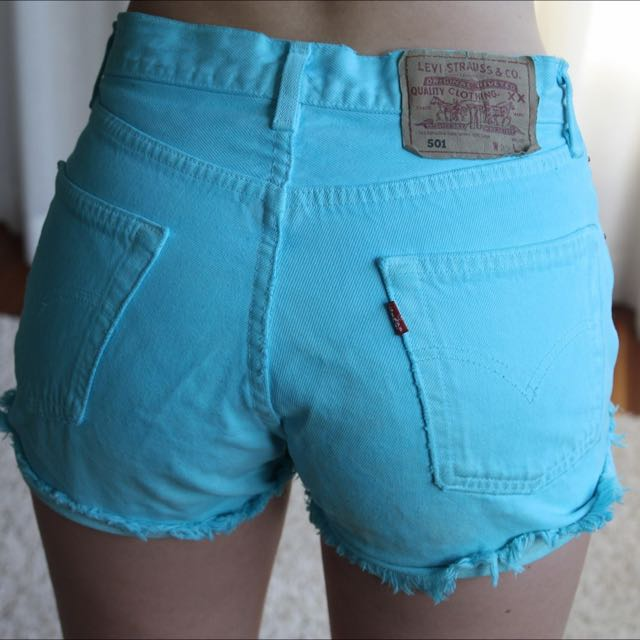 BLUE & PURPLE high-waisted Levis