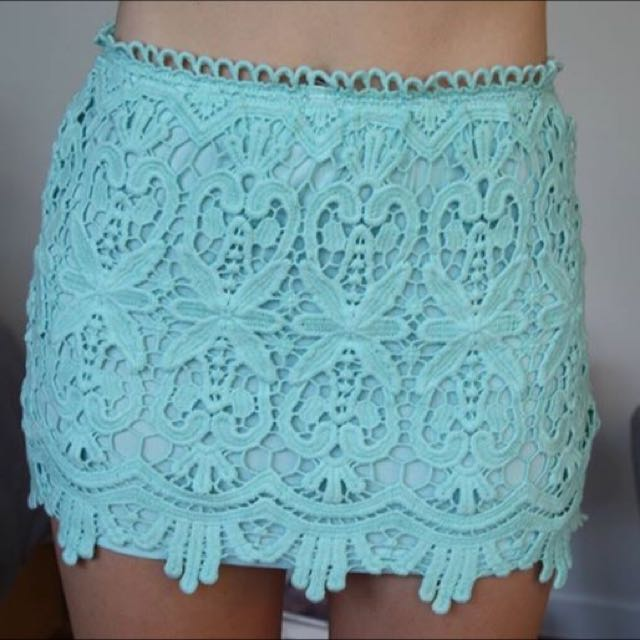 Blue Crotchet Skirt