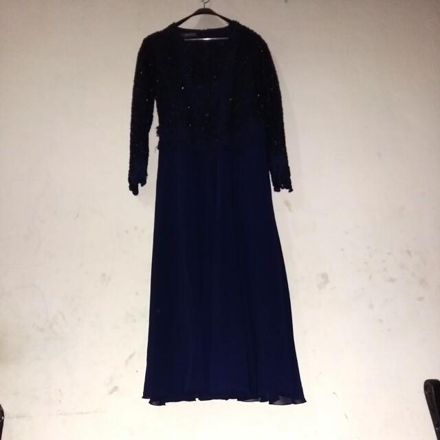 Blue Dark Long Dress