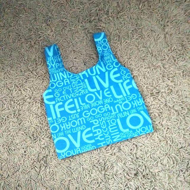 Blue swimwear top