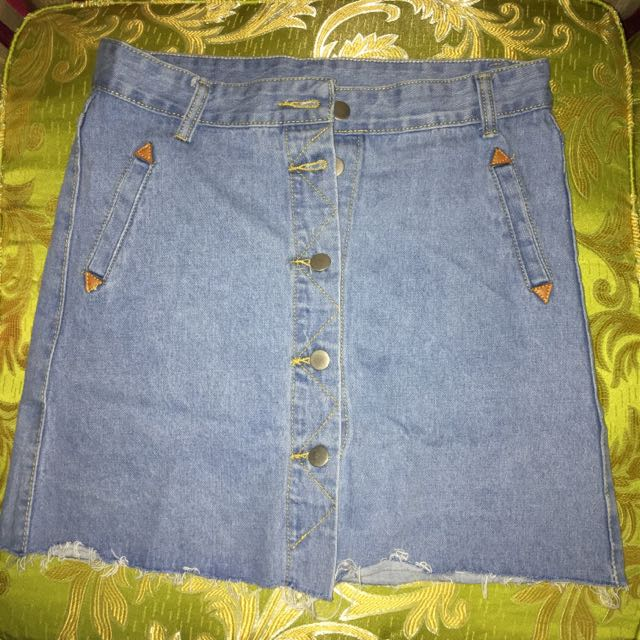 Brand New Highwaist Denim Skirt (Sizes: S-M-L-XL)
