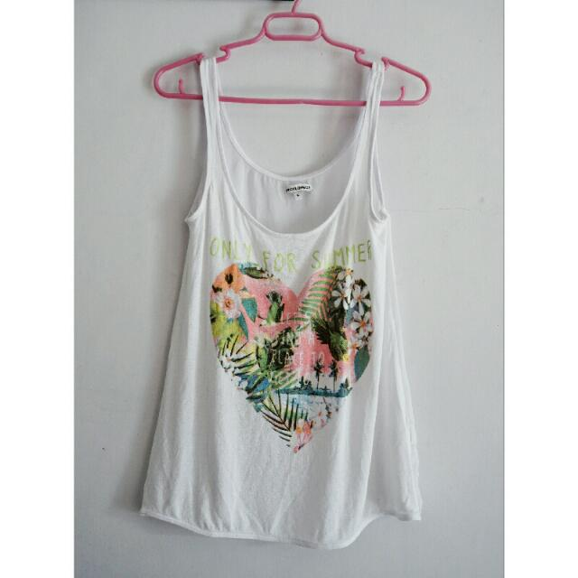 Colorbox White Tank Top