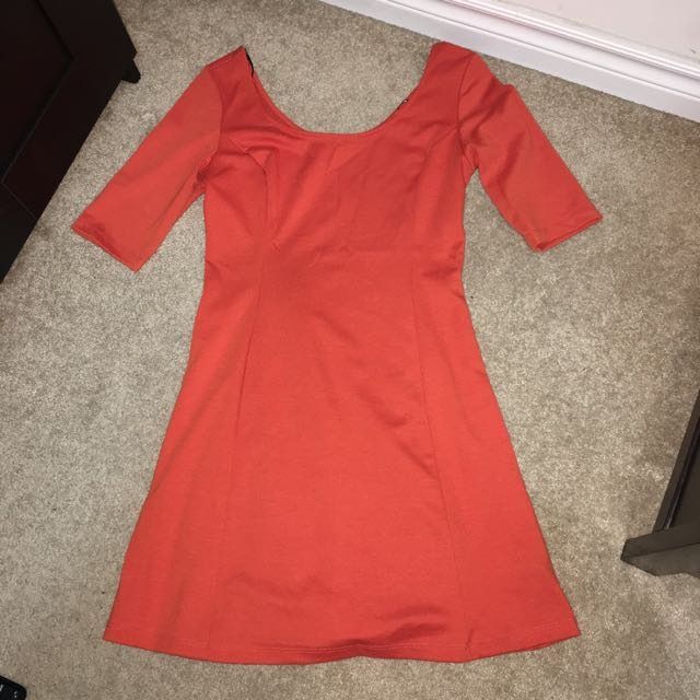 Flared Orange Dress