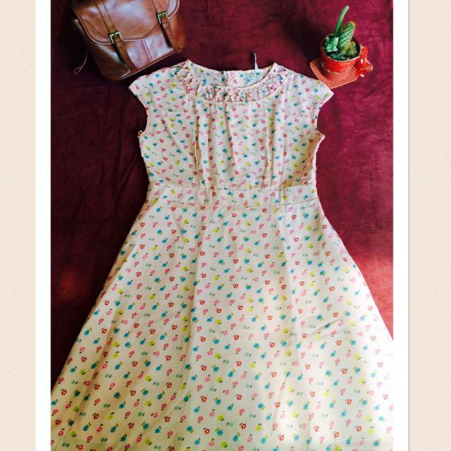 """Floral Peach Dress"" By: Scoop Proj"