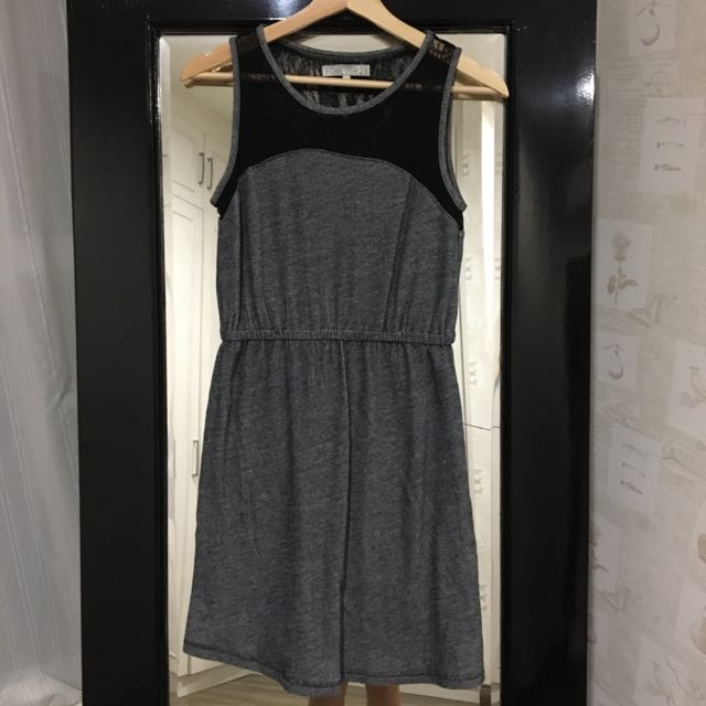 Forever 21 - Lace And Denim Cotton Skater Dress