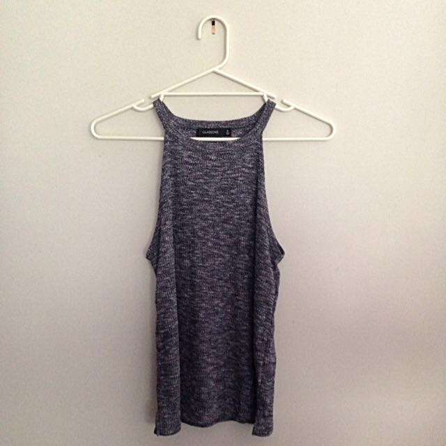 Grey Glassons Sleeveless Top Size S