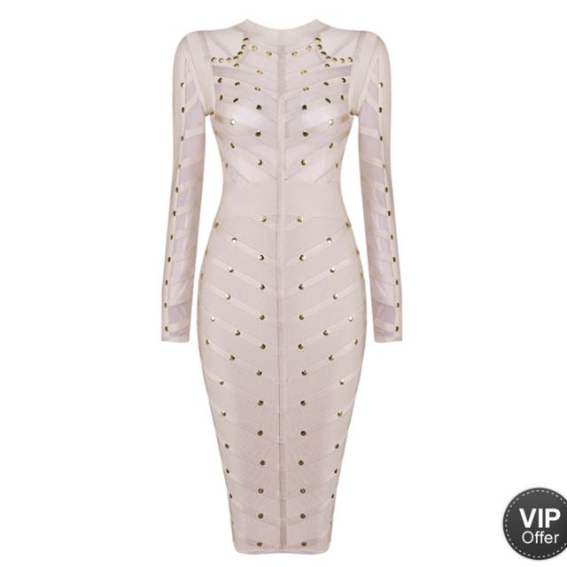 Hazel And Theif Studded Affair Dress