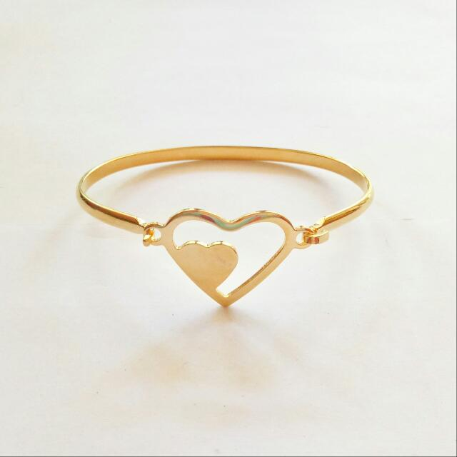 Heart Stainless Bangle