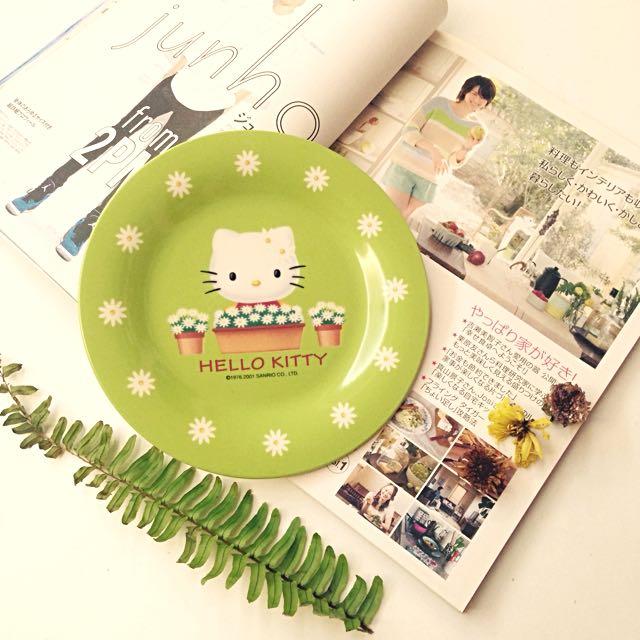 Hello Kitty蘋果綠餐盤