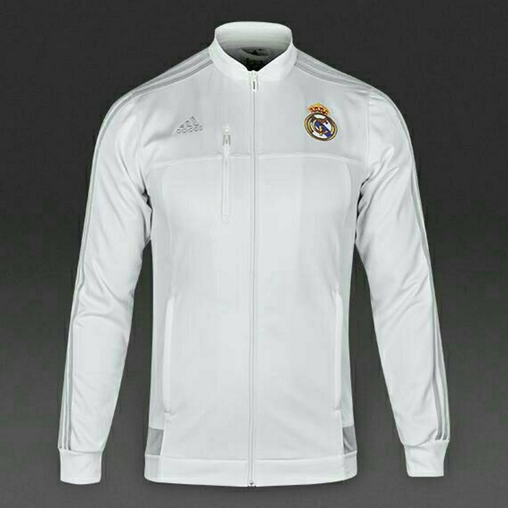 16b81086b Jaket Bola Grade ORI Real Madrid Anthem White Official 2015-2016 ...