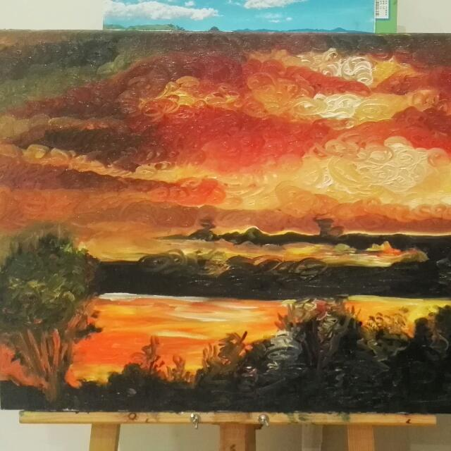 Landscape Oil Painting On Canvas(With Original Photography)