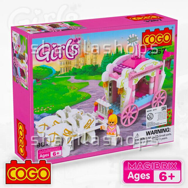 Lego Kereta Kencana Kuda Girls COGO 3267