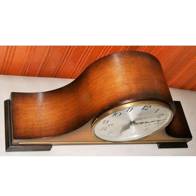Mantel / Desktop Triple Chime Clock (Tambour Style)