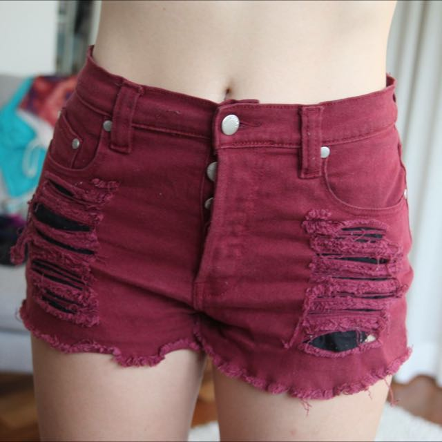 Mink Pink high-waisted shorts