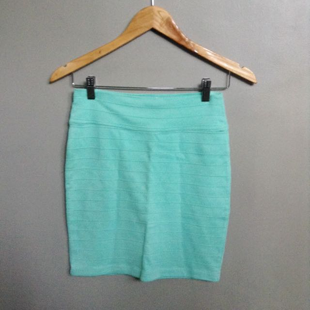 Mint Green Bandage Skirt from F21