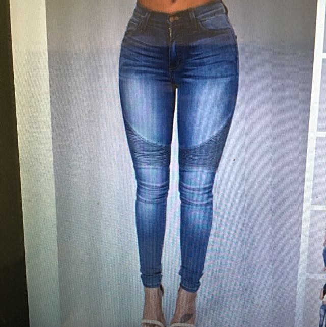 Fashion Nova Moto Jeans Size 7