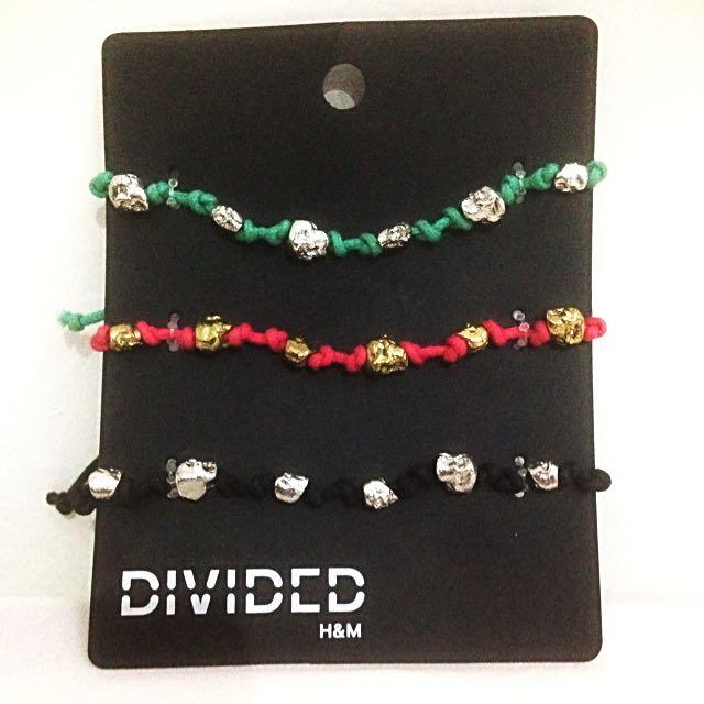 [NEW] DIVIDED By H&M Colorful Fashion Bracelets 3pcs
