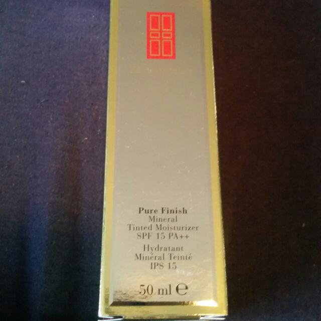NEW Elizabeth Arden Pure finish tinted moisturiser SPF 15 50mL