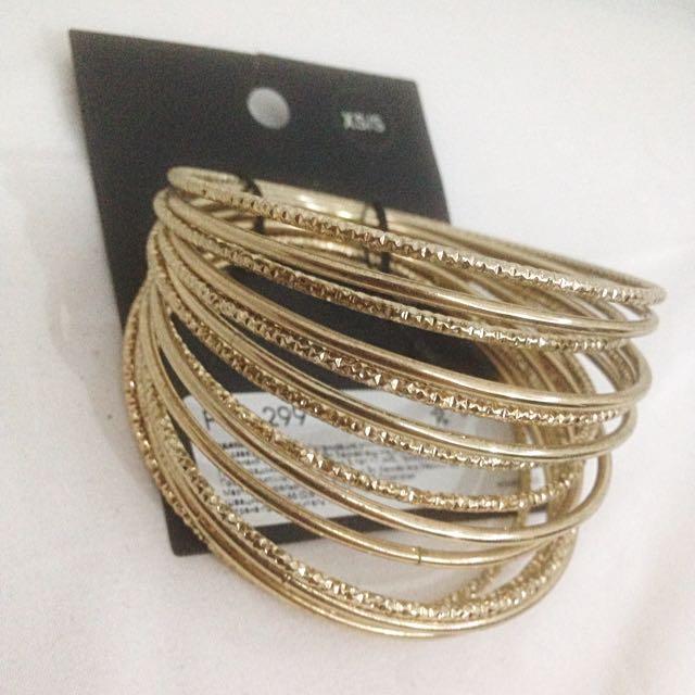 [NEW] H&M Set Gold Indian Bracelet 15pcs