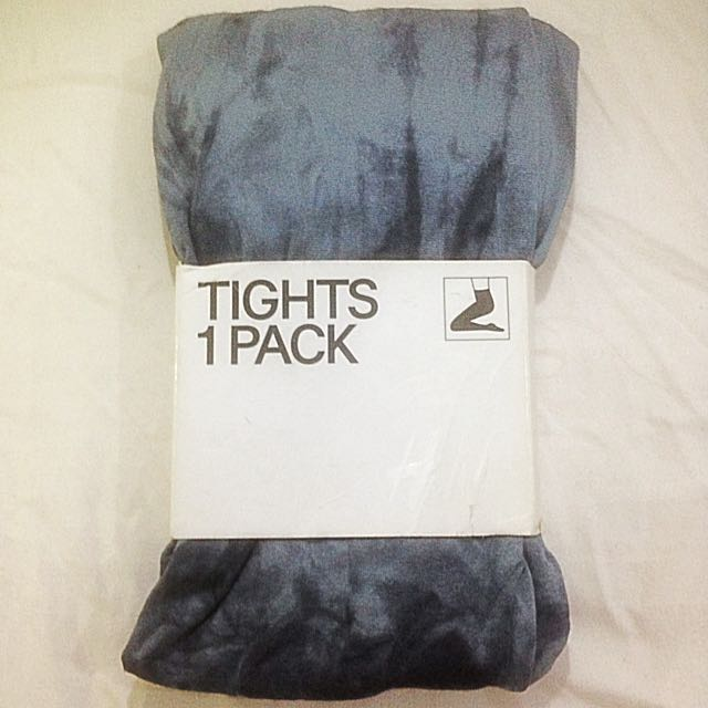 [NEW] H&M Dark Grey Washed Tights 1 Pack S