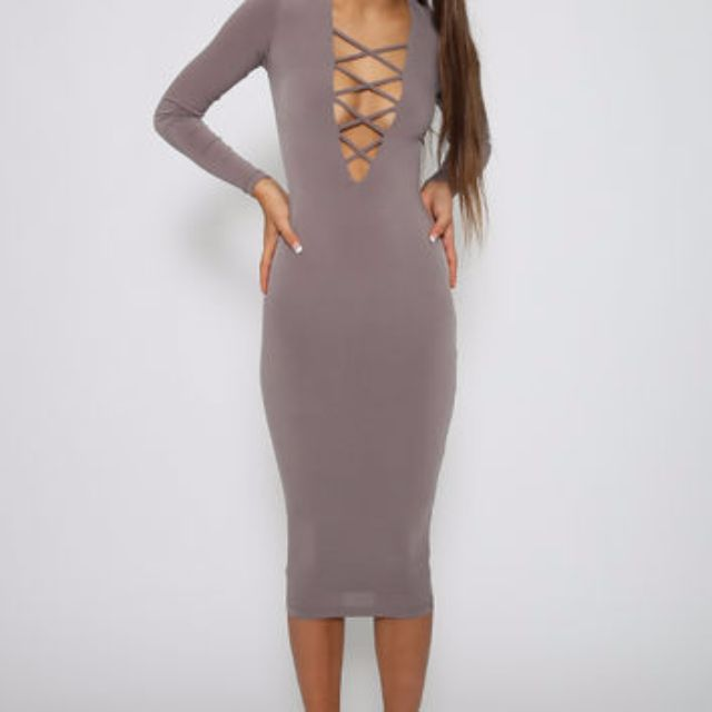 Nookie Ti Amo V Neck Criss Cross Dress