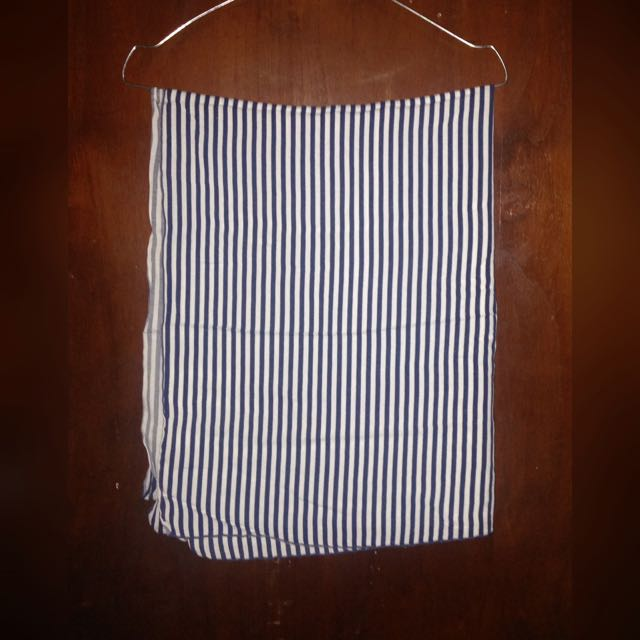 Pasmina Katun Stripes Navy White