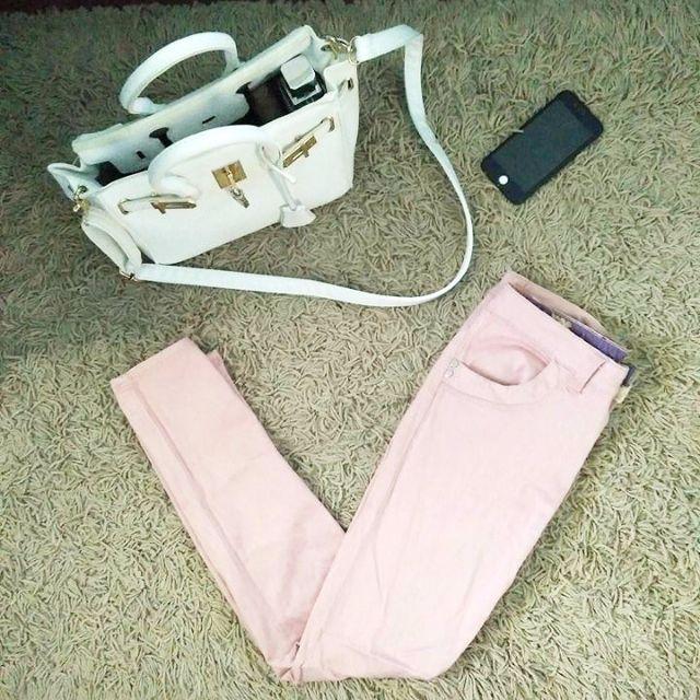 Pastel Pink Skinny Jeans