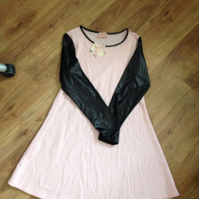 Pink/ Black Dress