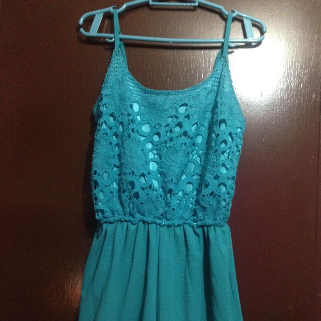 Pre-Loved Turquoise Sexy Romper / Jumpshort
