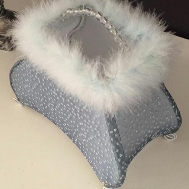 Purse Handbag/Table Lamp Feather Boa Trim