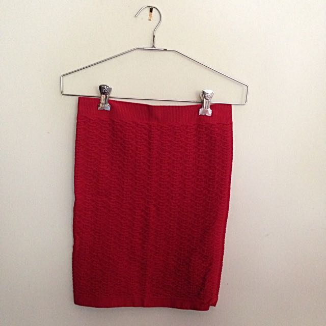 Red Ally Short Skirt Size S/M