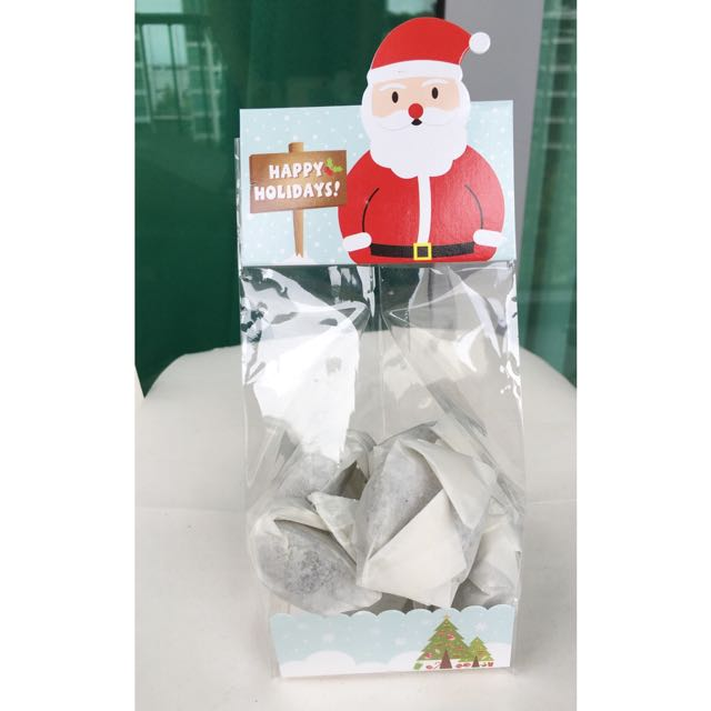 Santa Treat Bag Cookie Bag Set Of 5