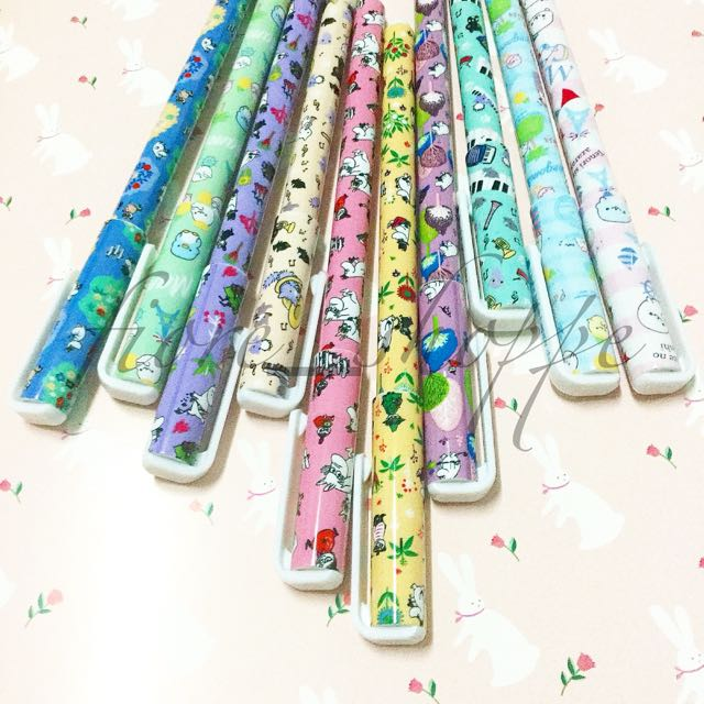 Set Of 10 Colored Gel Pens - Happy Day Pens