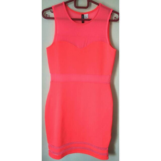 Shocking Pink Dress By H&M