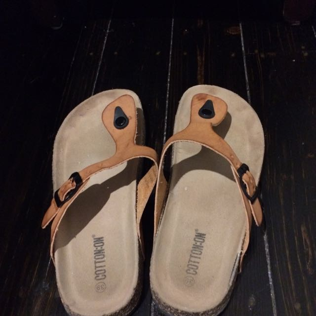 Slip On Cork Sandals