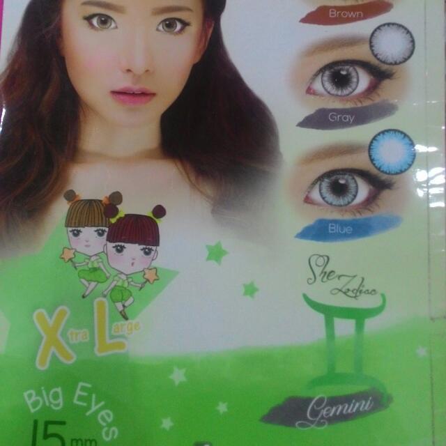 "Soflen Xtra Large Big Eyes ""She Zodiac Gemini"" Tersedia 3 Warna (Free Tempat Soflen)"