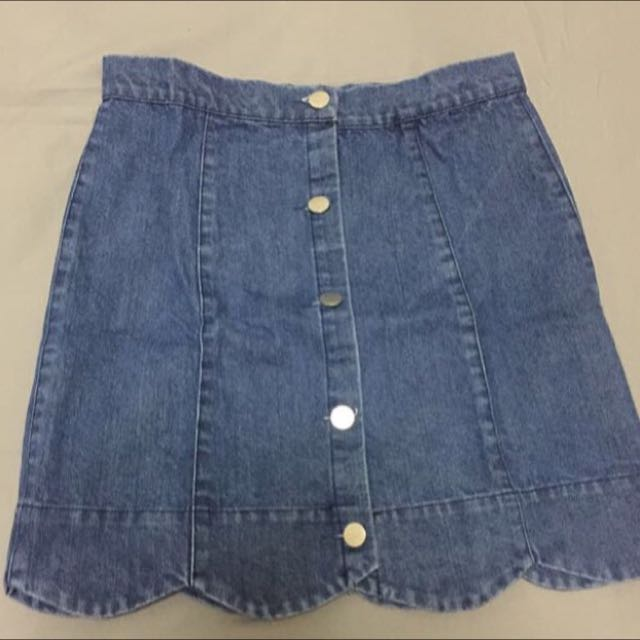 The Editor Market Button Skirt